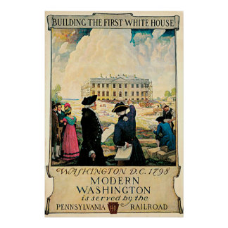 The First White House Vintage Poster