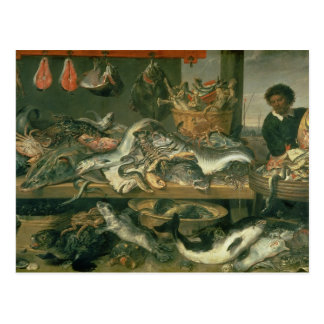 The Fish Market, 1618-21 Postcard