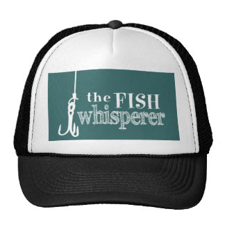 The Fish Whisperer (customizable colors) Cap