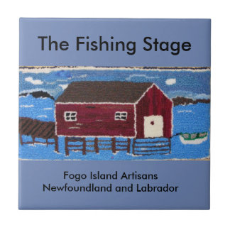 The Fishing Stage Small Square Tile