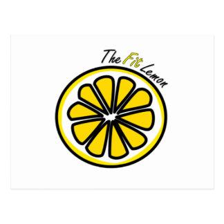 The Fit Lemon Postcard