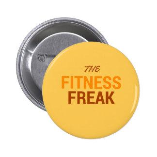 The Fitness Freak-Orange 6 Cm Round Badge