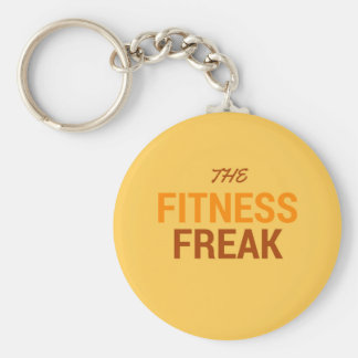 The Fitness Freak-Orange Key Ring