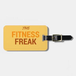 The Fitness Freak-Orange Luggage Tag