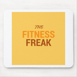 The Fitness Freak-Orange Mouse Pad