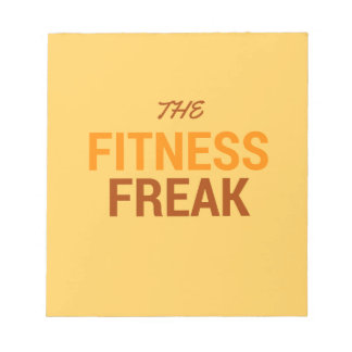 The Fitness Freak-Orange Notepad