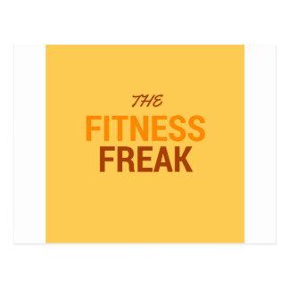 The Fitness Freak-Orange Postcard