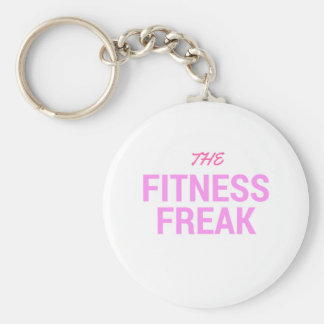 The Fitness Freak-Rose Basic Round Button Key Ring
