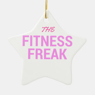 The Fitness Freak-Rose Ceramic Ornament
