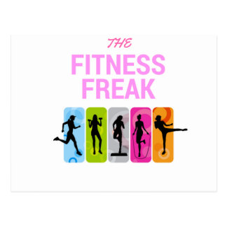 The Fitness Freak-Rose Postcard