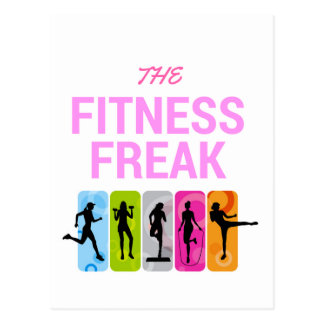The Fitness Freak-Rose Postcard