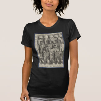 The Five Orders of Perriwigs by William Hogarth T-Shirt