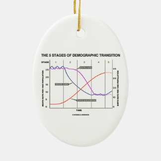 The Five Stages Of Demographic Transition Ceramic Oval Decoration