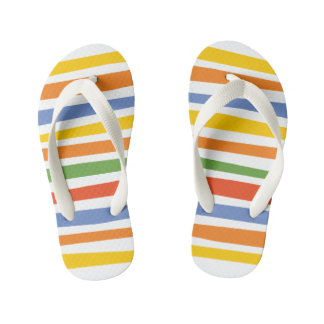The Fixies | Multicolored Striped Kid's Thongs