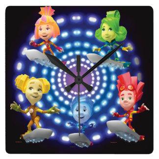 The Fixies | Top Secret - Fixie Kids Square Wall Clock