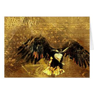The Flag and the Eagle Card