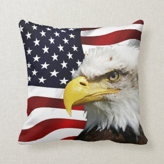 The flag of america with eagle cushion