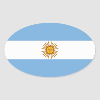 The Flag of Argentina Oval Sticker