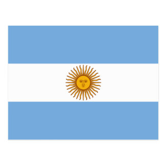 The Flag of Argentina Postcard