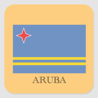 The Flag of Aruba Square Sticker