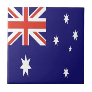 The Flag of Australia Small Square Tile