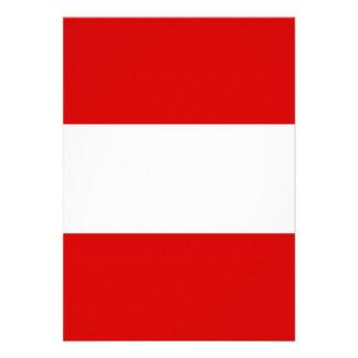 The Flag of Austria Custom Announcement
