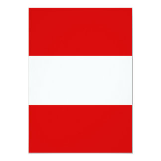 "The Flag of Austria 5"" X 7"" Invitation Card"