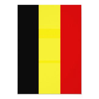 The Flag of Belgium 13 Cm X 18 Cm Invitation Card