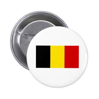 The Flag of Belgium Button