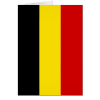 The Flag of Belgium Card