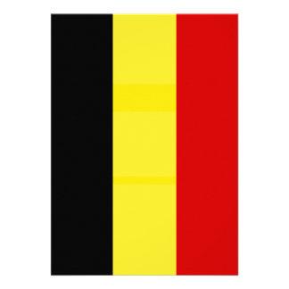 The Flag of Belgium Personalized Invitations