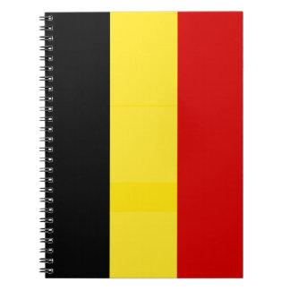 The Flag of Belgium Note Books