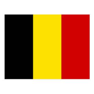 The Flag of Belgium Postcard