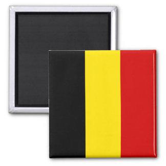 The Flag of Belgium Square Magnet