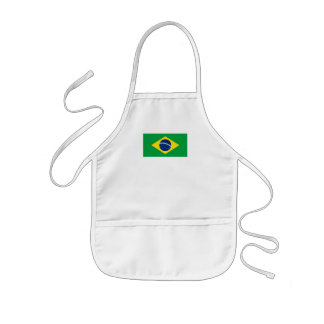 The Flag of Brazil Kids Apron