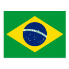 The Flag of Brazil Postcard