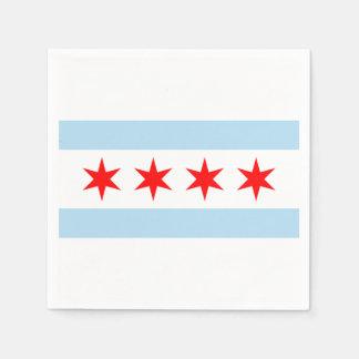 The Flag of Chicago Paper Napkin