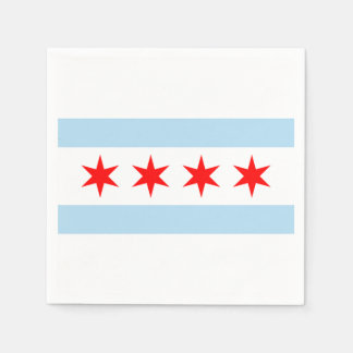 The Flag of Chicago Paper Napkins