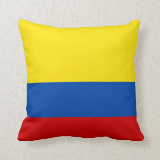 The Flag of Colombia Throw Cushions
