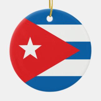 The Flag of Cuba Ceramic Ornament