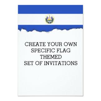 The flag of El Salvador Card