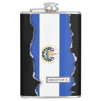 The flag of El Salvador Hip Flask