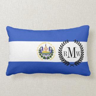 The flag of El Salvador Lumbar Pillow