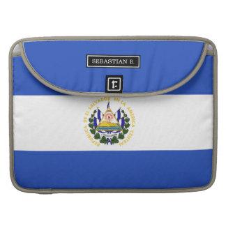 The flag of El Salvador MacBook Pro Sleeves