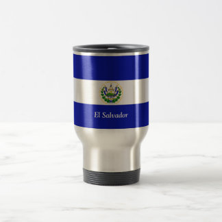 The Flag of El Salvador. Stainless Steel Travel Mug