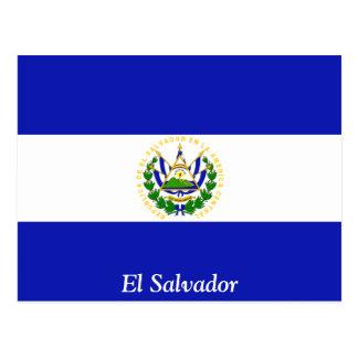 The Flag of El Salvador. Postcard