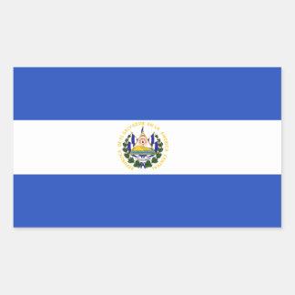 The flag of El Salvador Rectangular Sticker