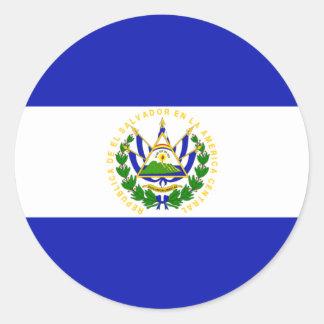 The Flag of El Salvador. Round Sticker
