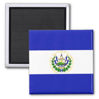 The Flag of El Salvador. Square Magnet