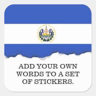 The flag of El Salvador Square Sticker